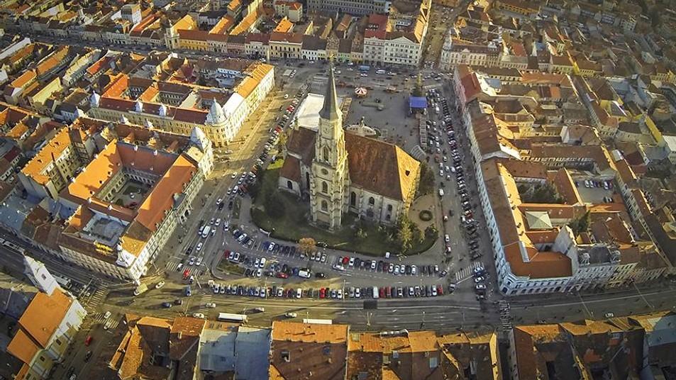 Cluj-Napoca by sky