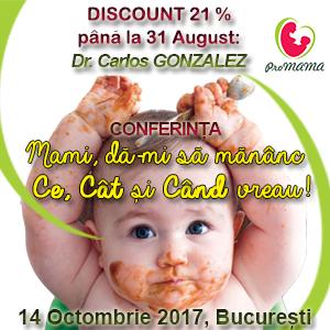 DISCOUNT la Conferinta dr. Carlos GONZALEZ